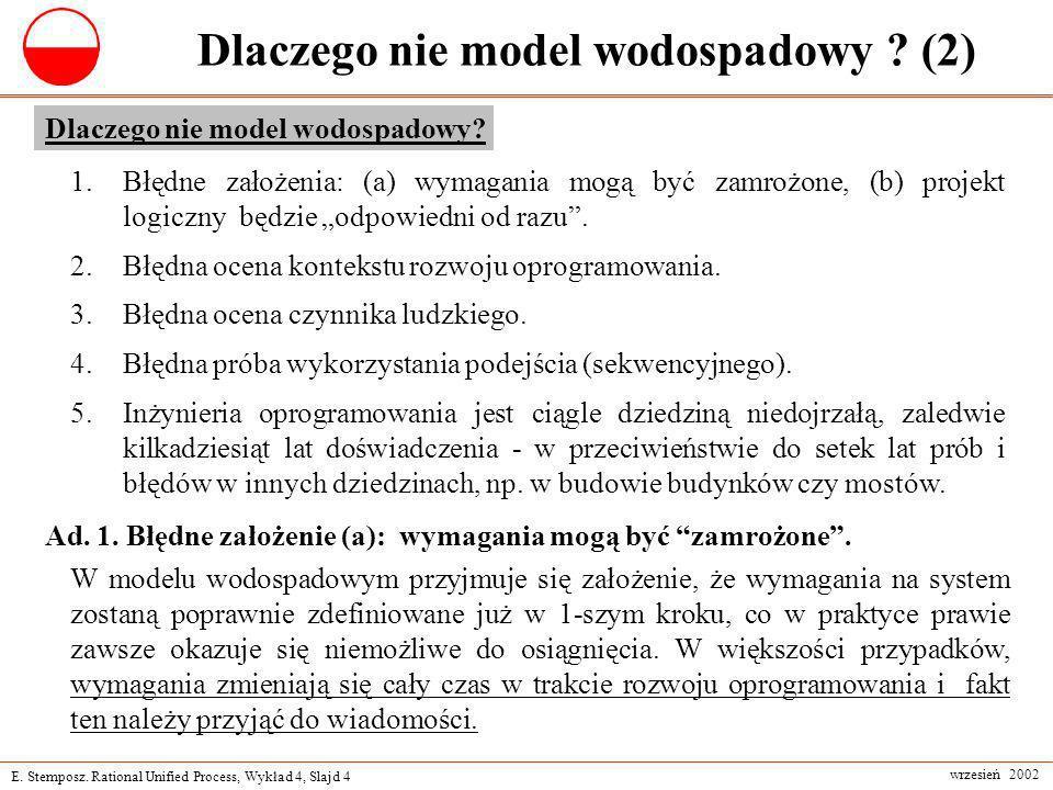 Dlaczego nie model wodospadowy (2)