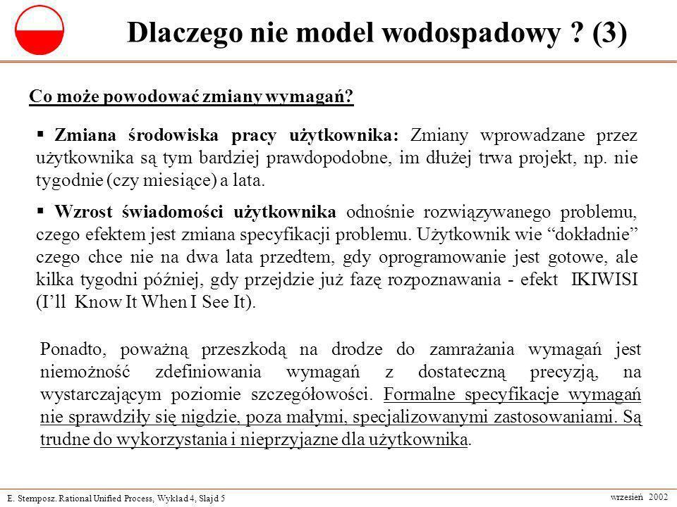 Dlaczego nie model wodospadowy (3)