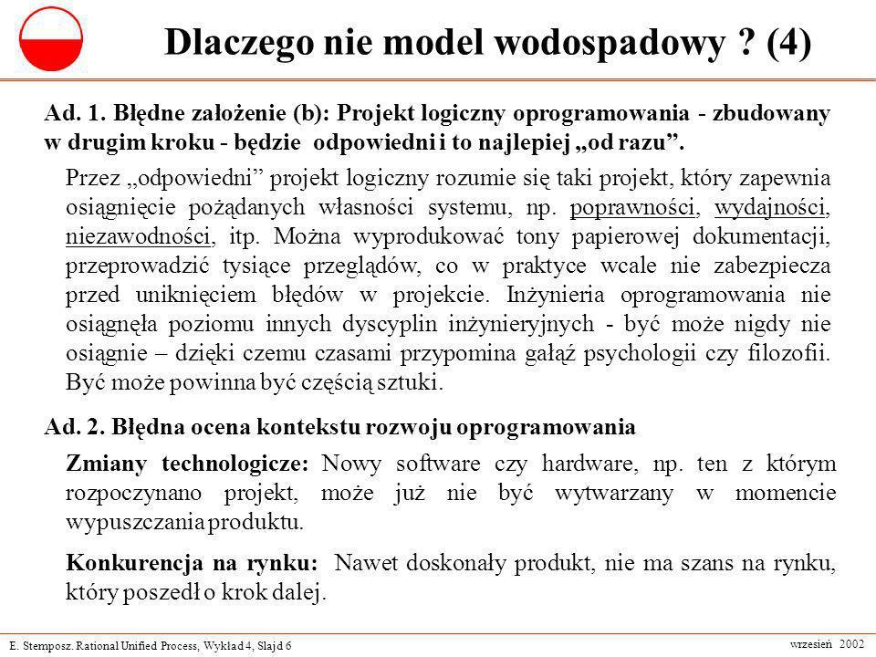 Dlaczego nie model wodospadowy (4)