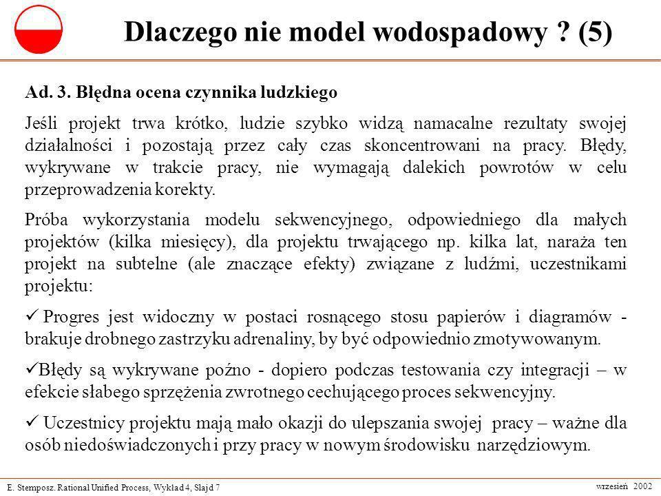 Dlaczego nie model wodospadowy (5)