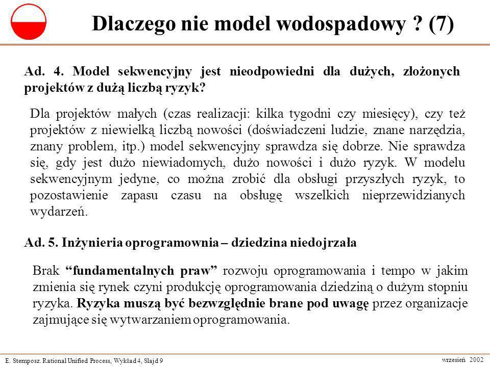 Dlaczego nie model wodospadowy (7)