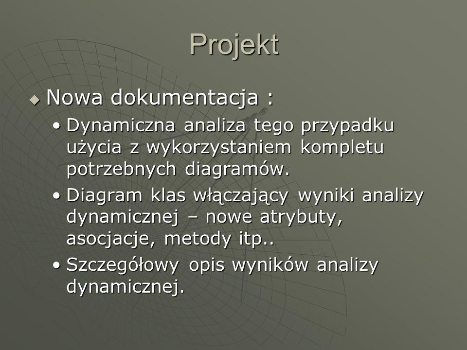 Projekt Nowa dokumentacja :