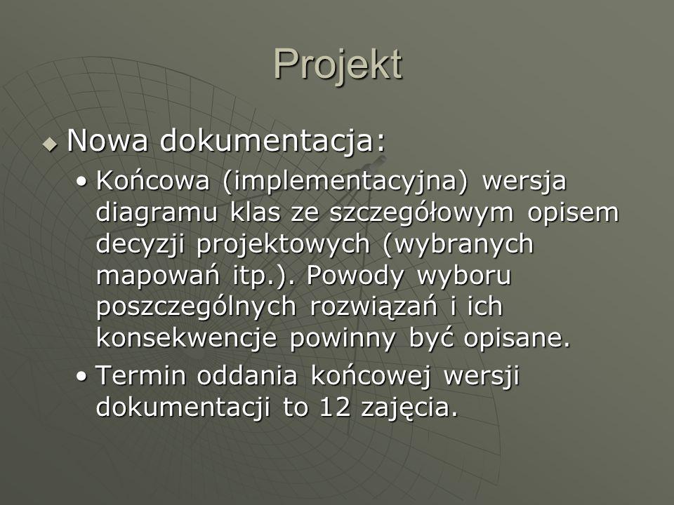 Projekt Nowa dokumentacja:
