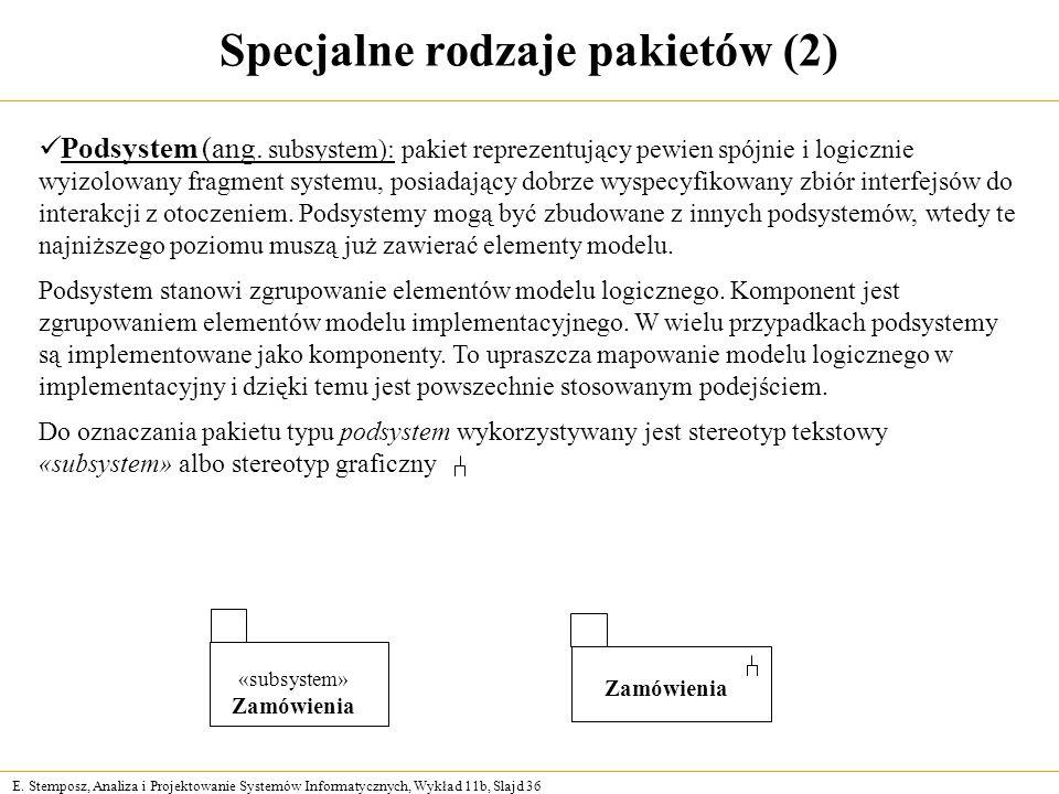 Specjalne rodzaje pakietów (2)