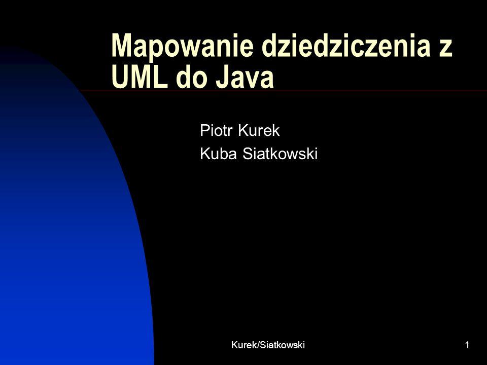 Mapowanie dziedziczenia z UML do Java