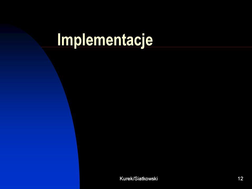 Implementacje Kurek/Siatkowski