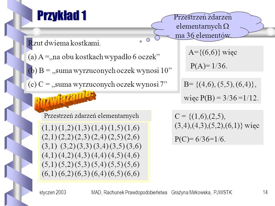 Rozwiązanie: Przykład 1