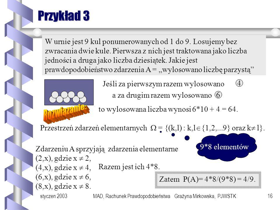 MAD, Rachunek Prawdopodobieństwa Grażyna Mirkowska, PJWSTK
