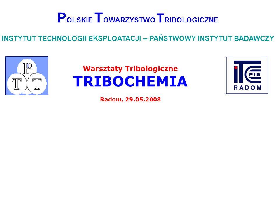 POLSKIE TOWARZYSTWO TRIBOLOGICZNE