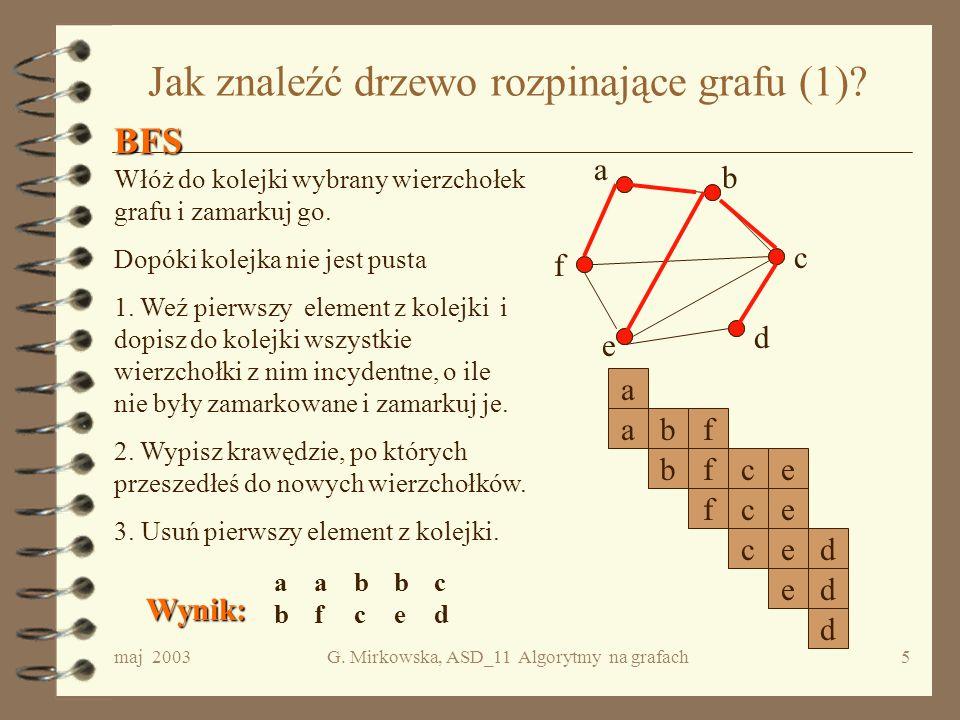 Jak znaleźć drzewo rozpinające grafu (1)