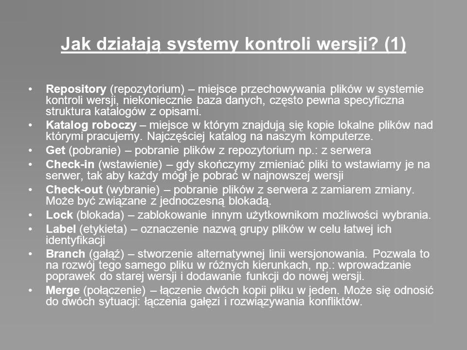 Jak działają systemy kontroli wersji (1)