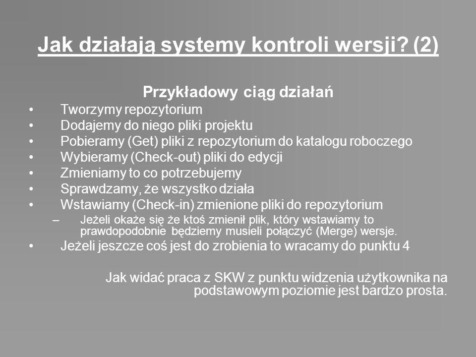 Jak działają systemy kontroli wersji (2)