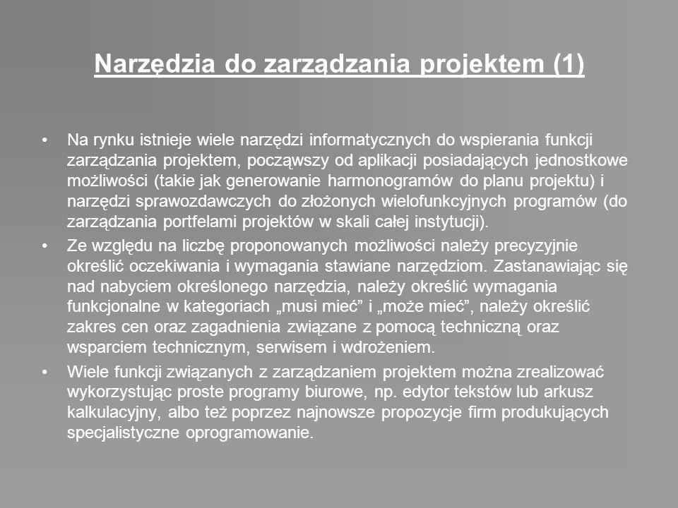 Narzędzia do zarządzania projektem (1)