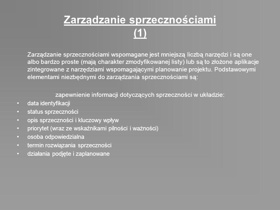 Zarządzanie sprzecznościami (1)