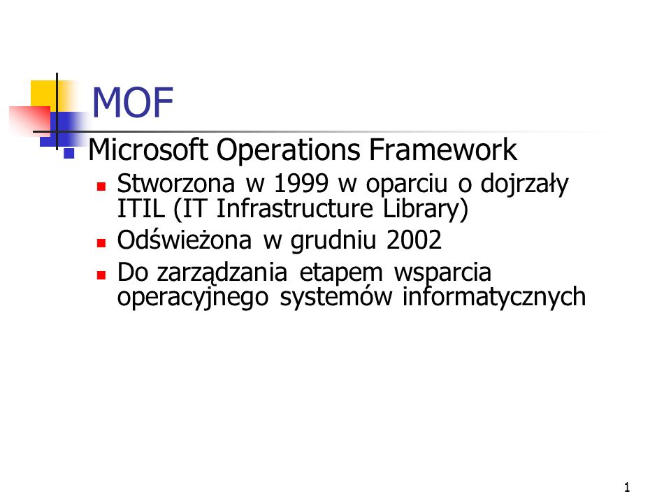 MOF Microsoft Operations Framework