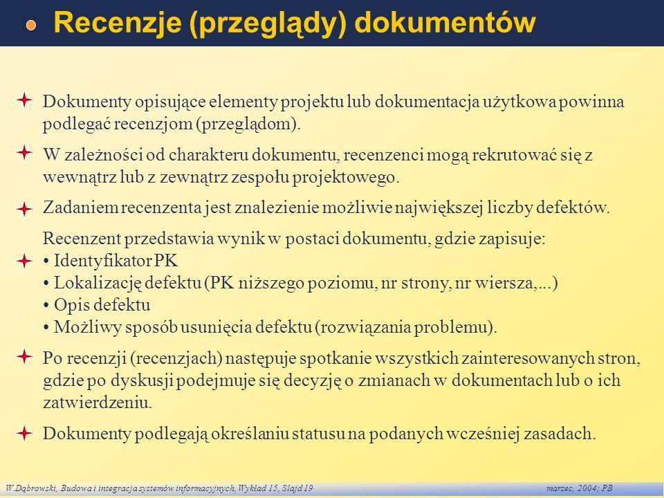 Recenzje (przeglądy) dokumentów
