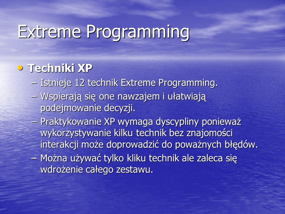 Extreme Programming Techniki XP