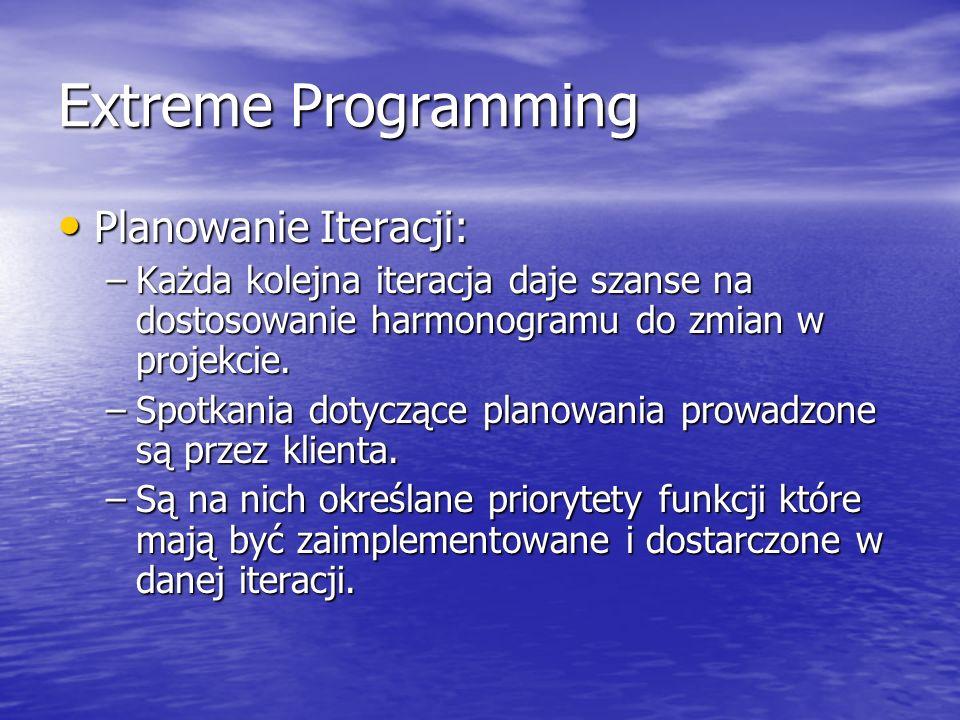 Extreme Programming Planowanie Iteracji: