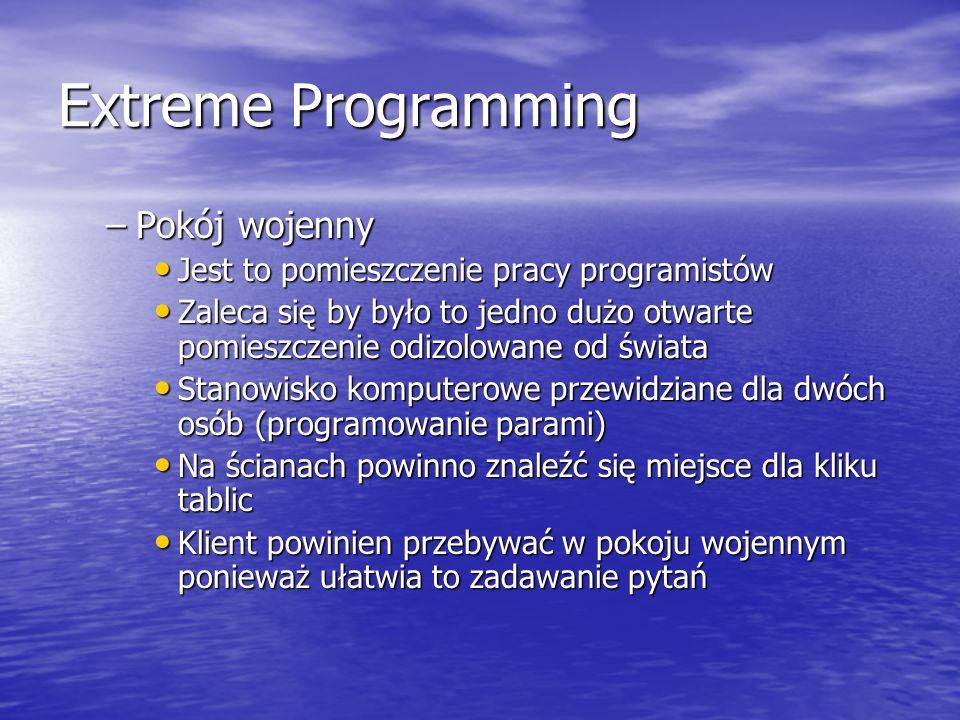 Extreme Programming Pokój wojenny
