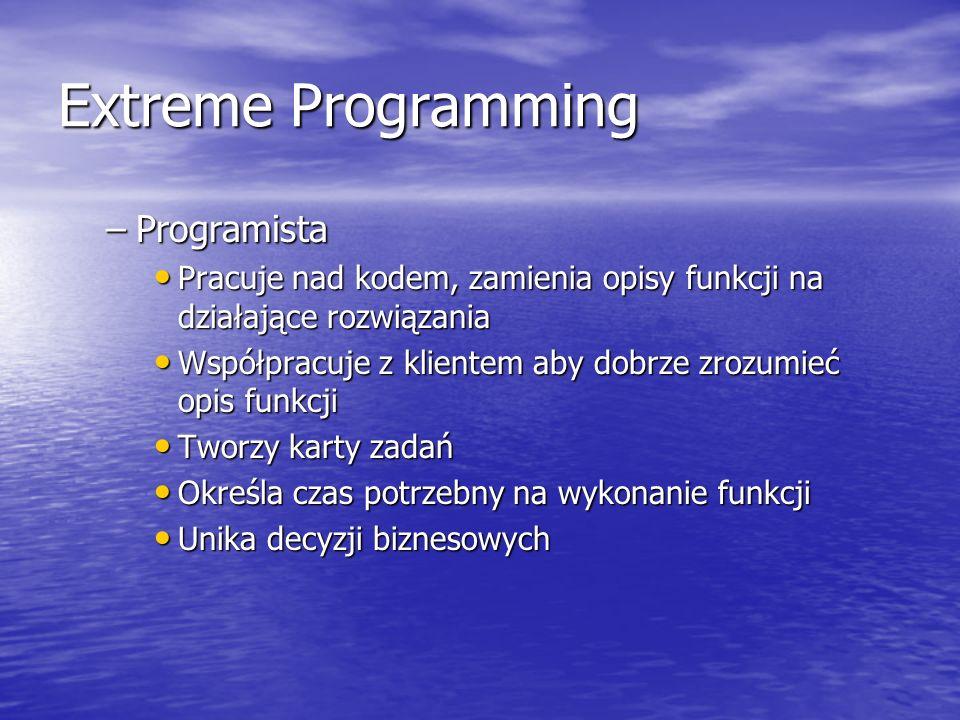 Extreme Programming Programista