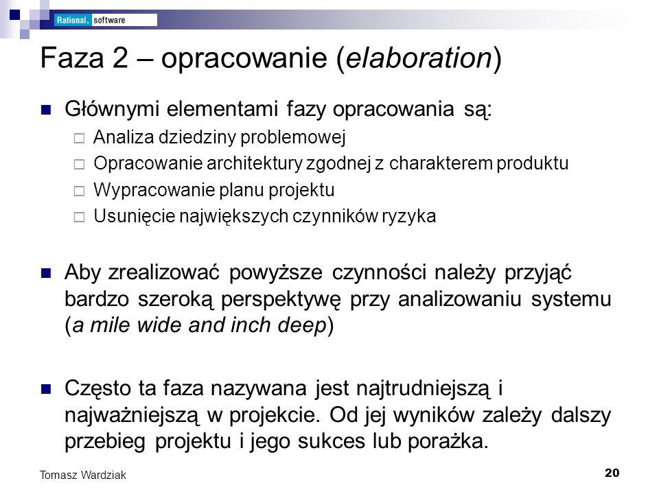 Faza 2 – opracowanie (elaboration)