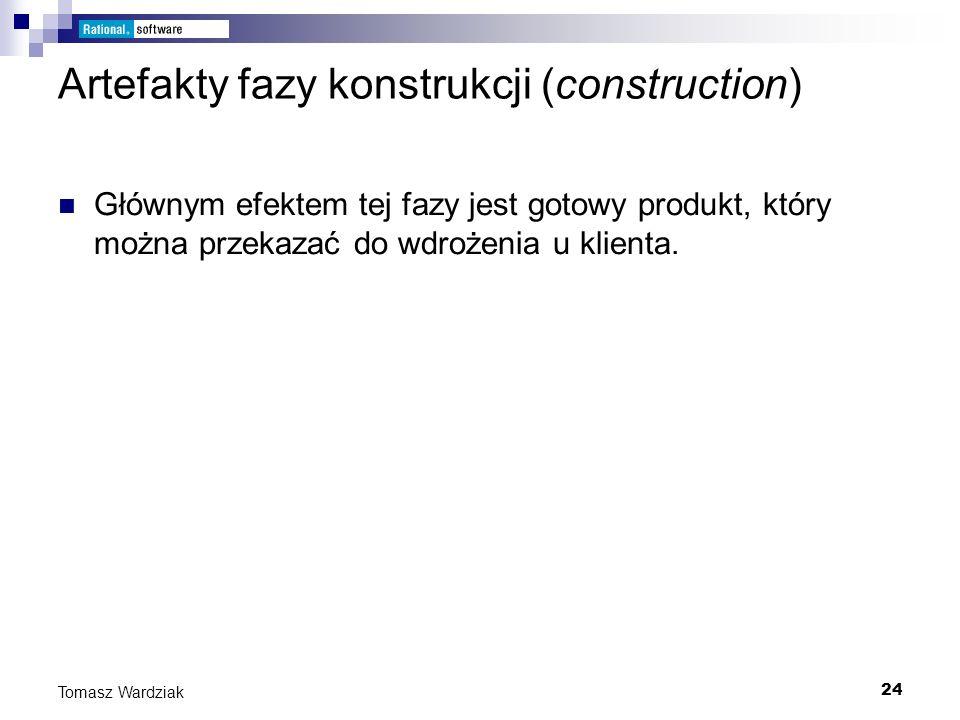 Artefakty fazy konstrukcji (construction)