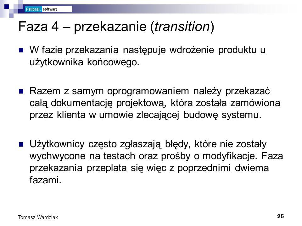 Faza 4 – przekazanie (transition)