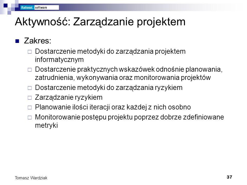 Aktywność: Zarządzanie projektem