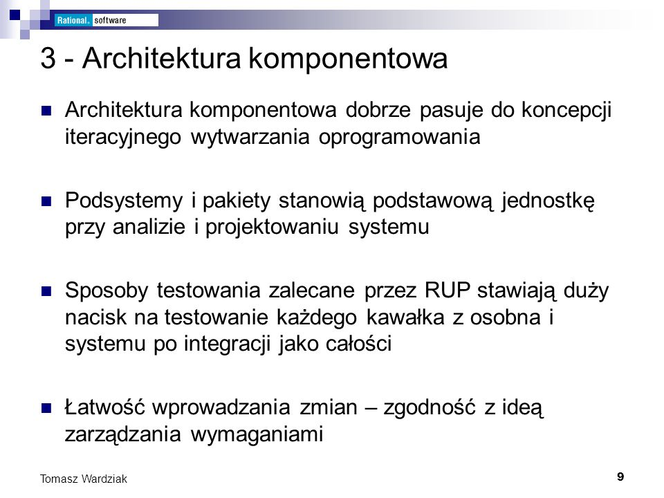 3 - Architektura komponentowa
