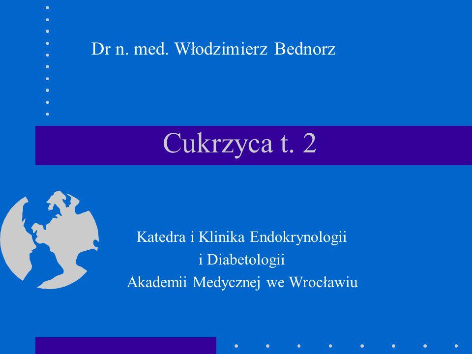 Cukrzyca t. 2 Dr n. med. Włodzimierz Bednorz