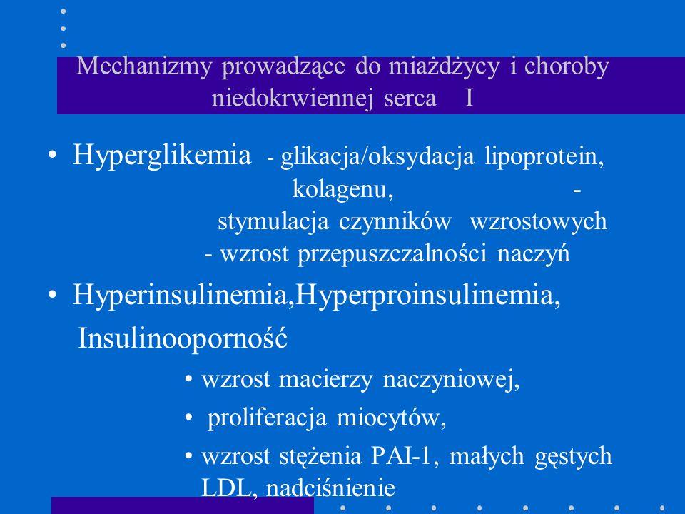 Mechanizmy prowadzące do miażdżycy i choroby niedokrwiennej serca I