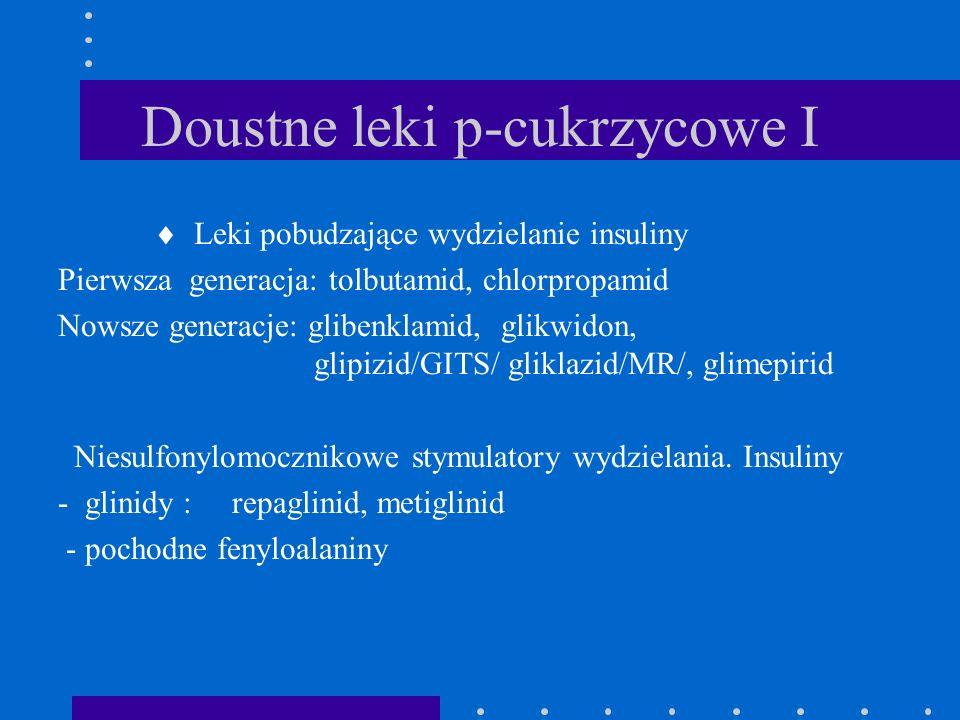 Doustne leki p-cukrzycowe I