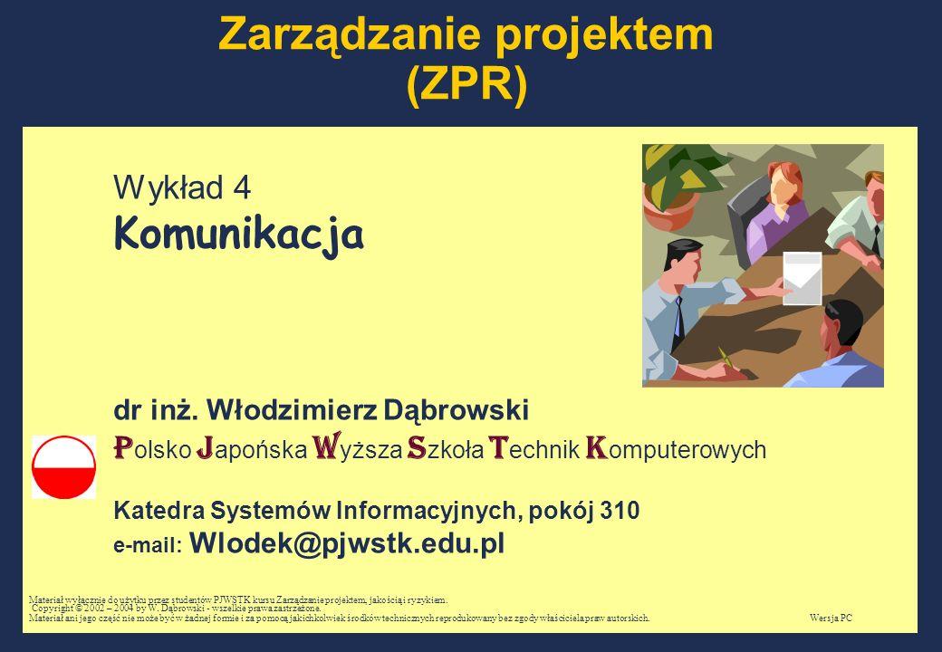 Zarządzanie projektem (ZPR)