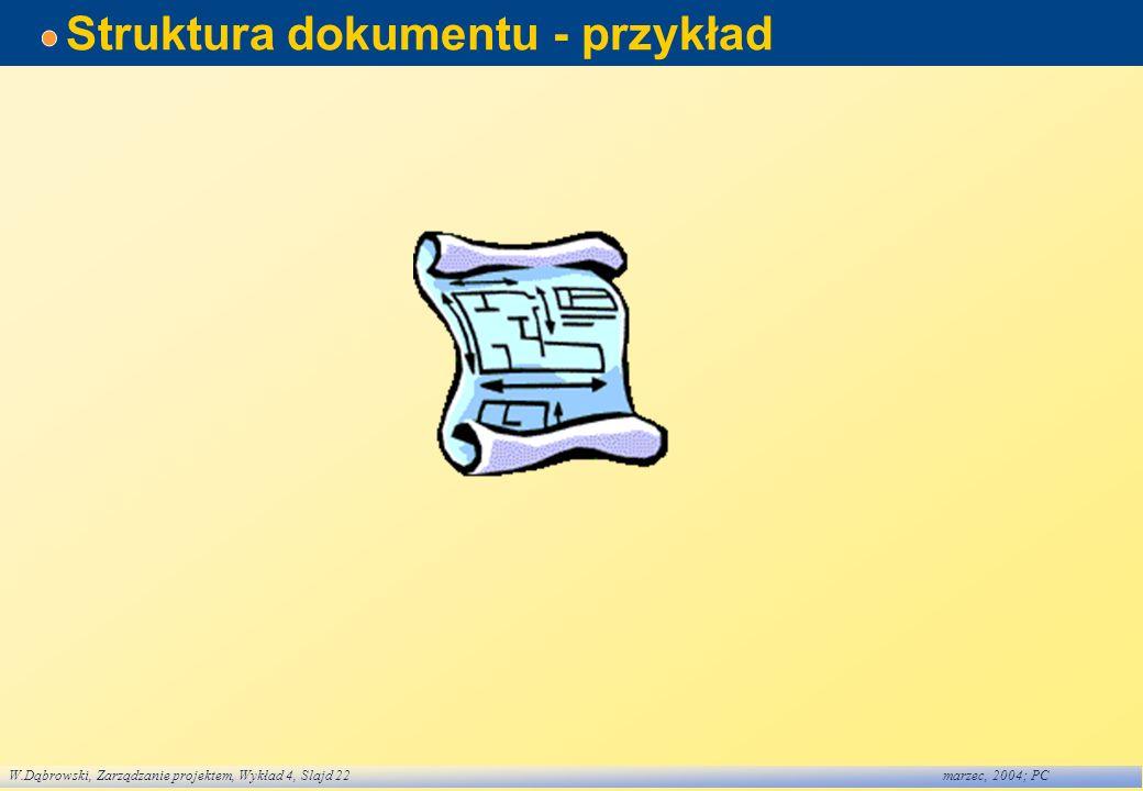 Struktura dokumentu - przykład