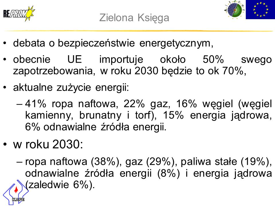 w roku 2030: Zielona Księga debata o bezpieczeństwie energetycznym,
