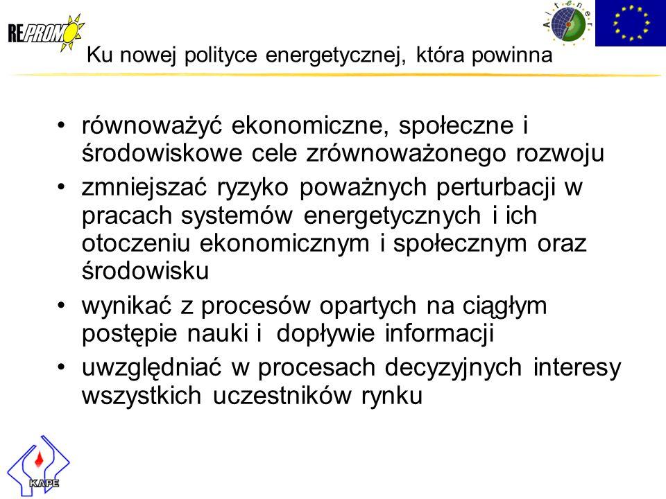 Ku nowej polityce energetycznej, która powinna