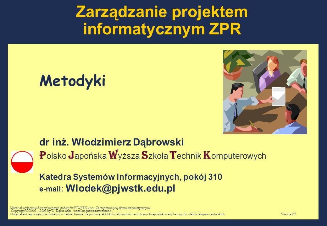 Zarządzanie projektem informatycznym ZPR