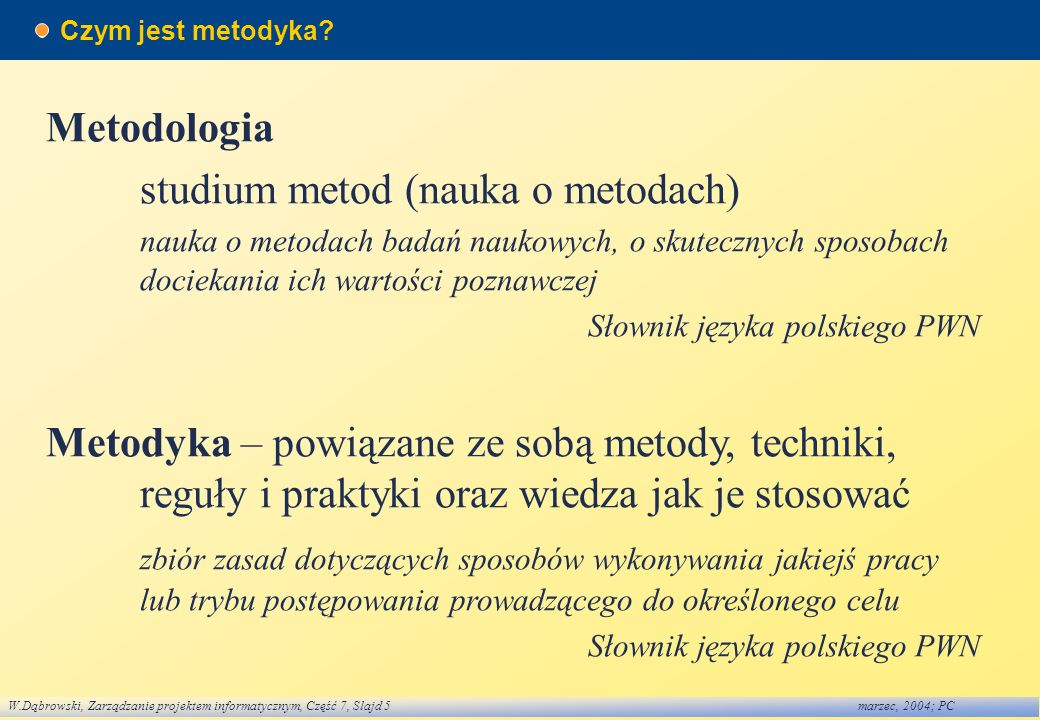 studium metod (nauka o metodach)