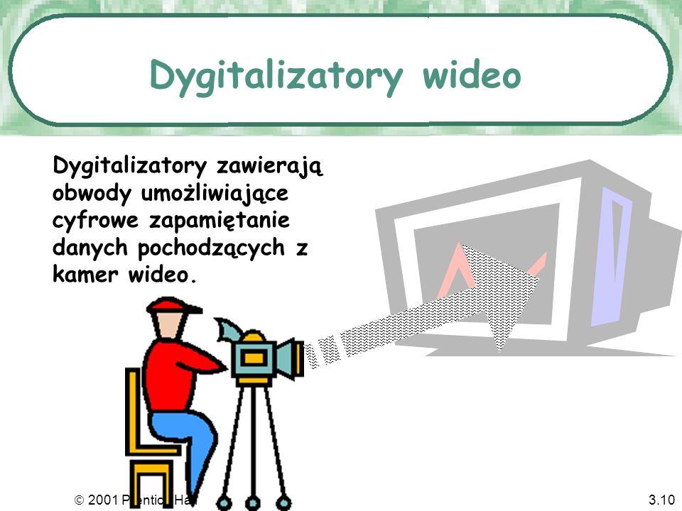 Dygitalizatory wideo Dygitalizatory zawierają obwody umożliwiające cyfrowe zapamiętanie danych pochodzących z kamer wideo.