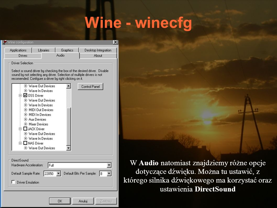 Wine - winecfg