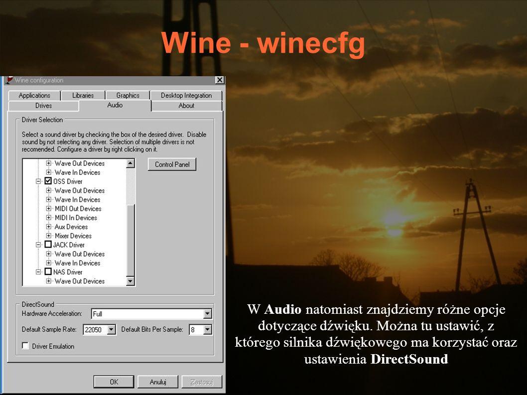 Wine - winecfg