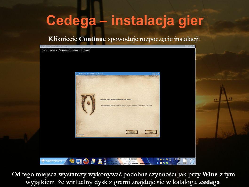 Cedega – instalacja gier