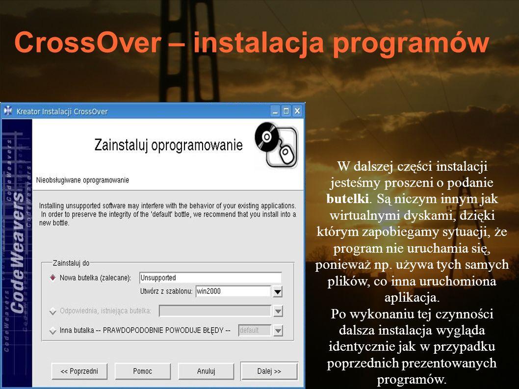 CrossOver – instalacja programów