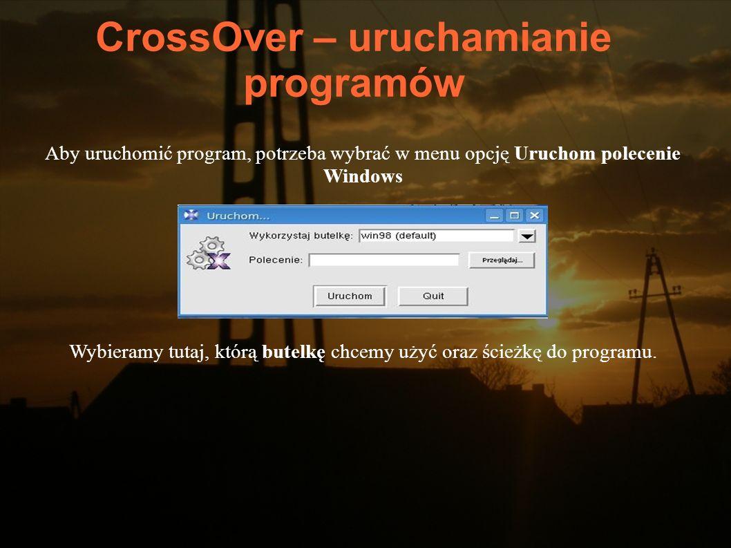 CrossOver – uruchamianie programów