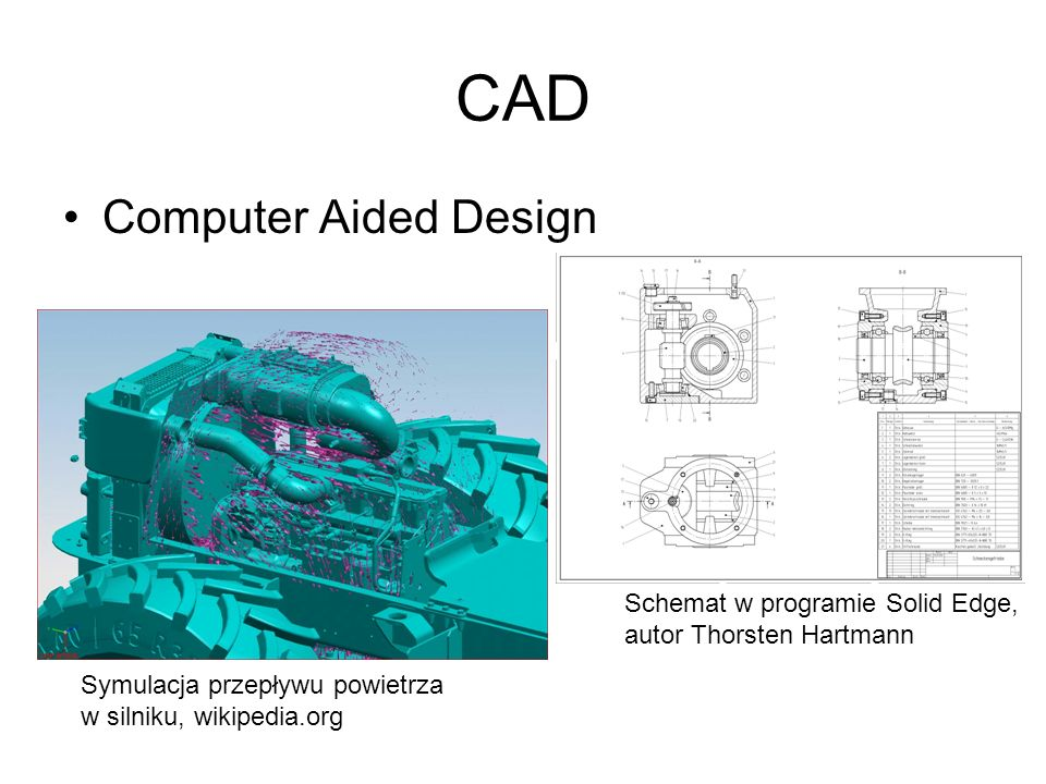 CAD Computer Aided Design Schemat w programie Solid Edge,