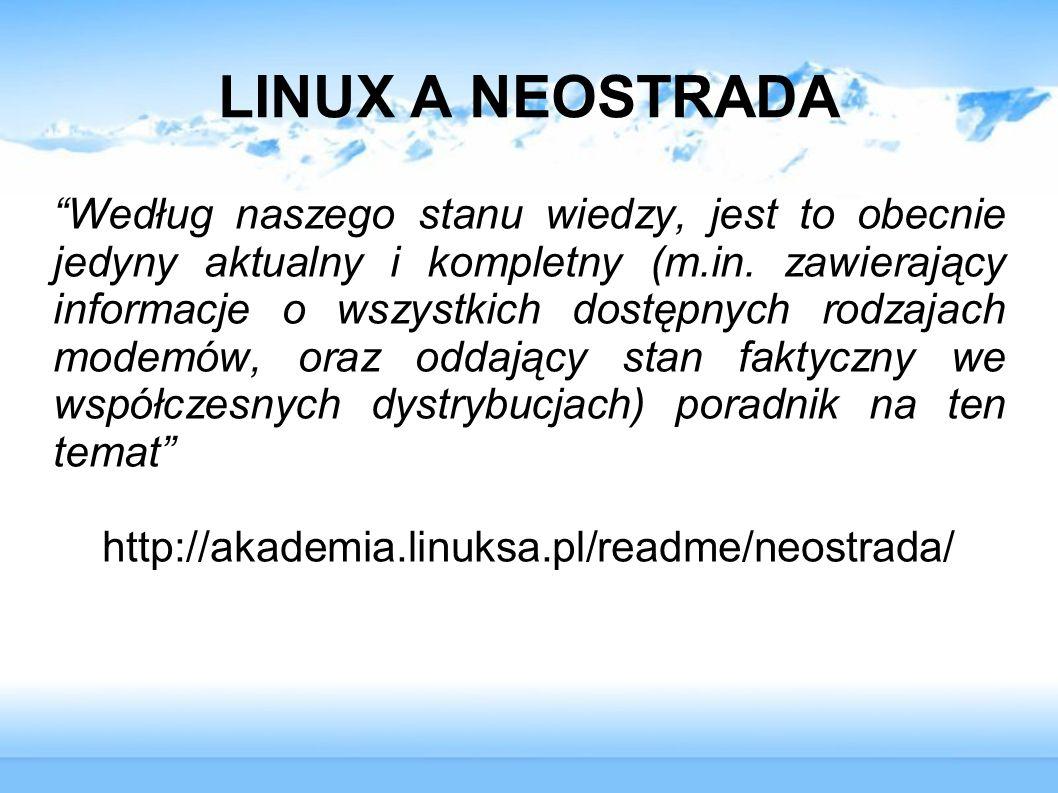 LINUX A NEOSTRADA