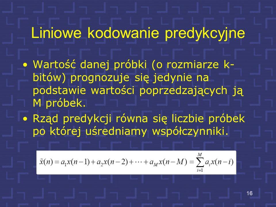Liniowe kodowanie predykcyjne