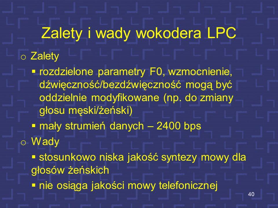 Zalety i wady wokodera LPC