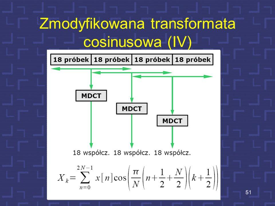 Zmodyfikowana transformata cosinusowa (IV)