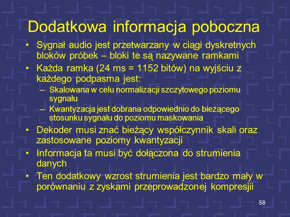 Dodatkowa informacja poboczna